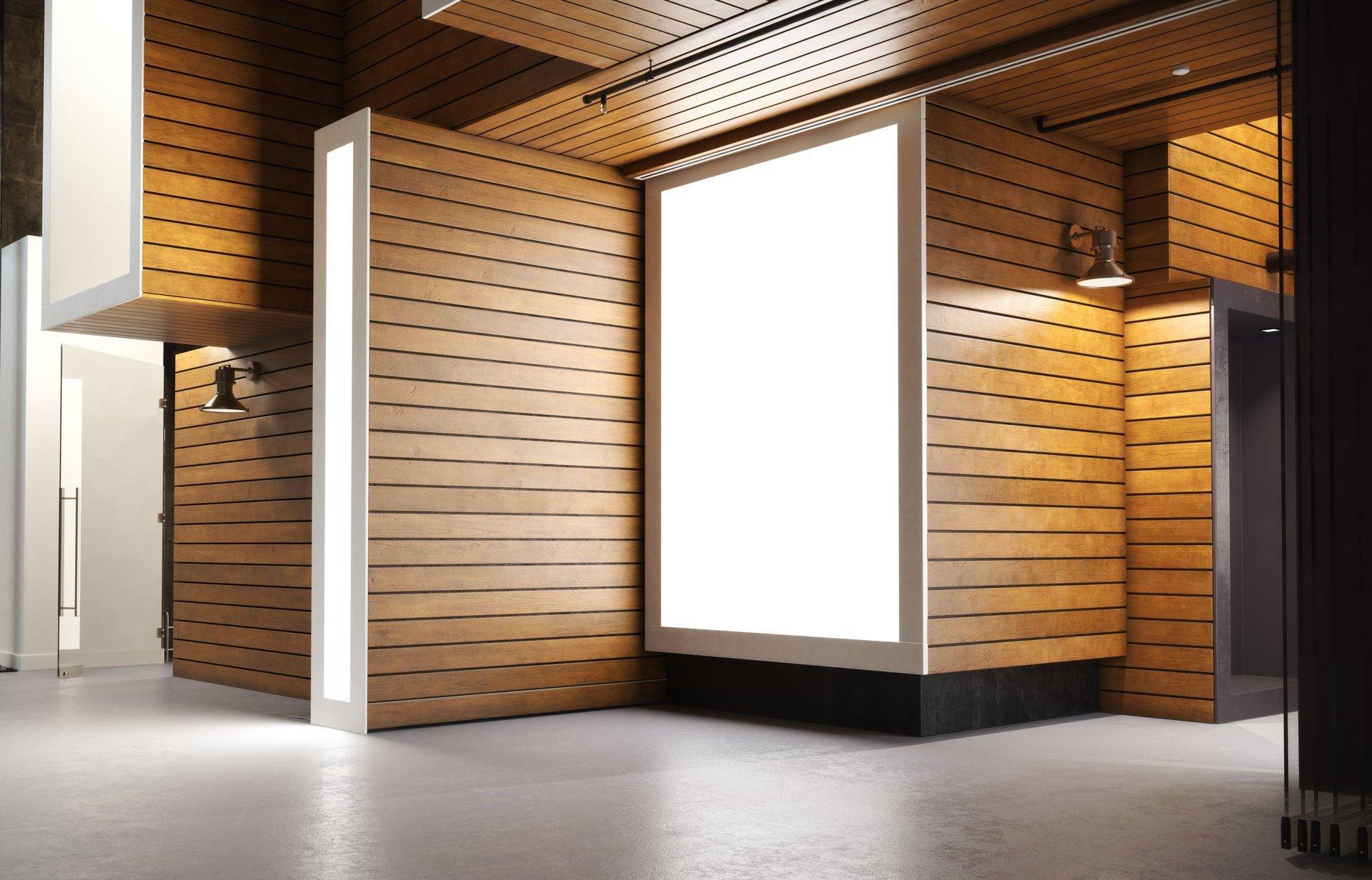 Locally sourced custom wood panel wall in La Plata, Oxford